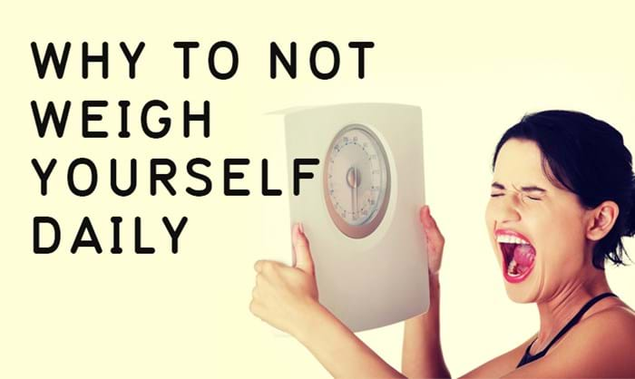 Why you shouldn't weigh yourself every day